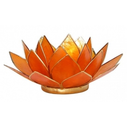 Lotus mood light - Amber orange