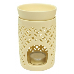 Oil burner Flower of Life (crème colored)
