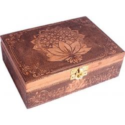 Tarot box Flower of Life Lotus (copper color)