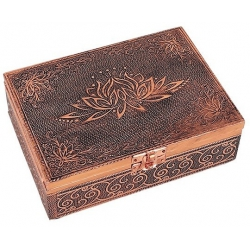 Tarot box Lotus (copper color)