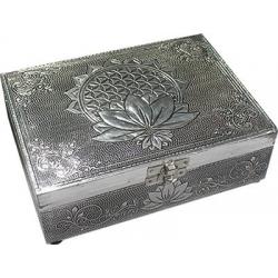 Tarot box Flower of Life Lotus (silver color)