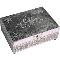 Tarot box Lotus (silver color)