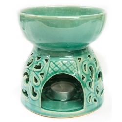 Oil burner turquoise with...