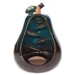 Pear shape Backflow incense burner blue