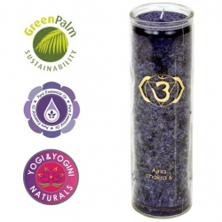 Chakra scented candle in glass - 6th Chakra (Ajna)