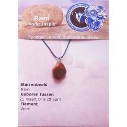 Zodiac sign pendant Aries (Red Jasper)