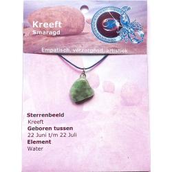 Zodiac sign pendant Cancer (Emerald)