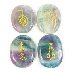 Reiki symbool stenen Fluoriet
