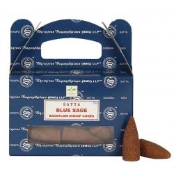 Blue Sage Backflow incense cone (Satya)