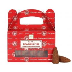 Dragon's Fire Backflow incense cone (Satya)